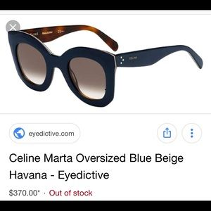 46d5e587958 Celine Blue Beige 41093S Sunglasses